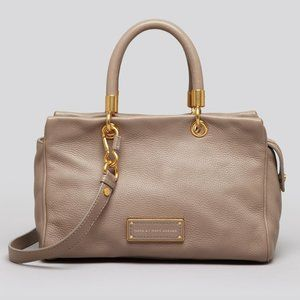 """""""Too Hot To Handle"""" Grey Pebbled Leather Satchel"""